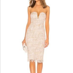 NWT LPA 691 dress in a multi cream tweed